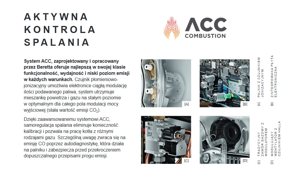 kocioł kondensacyjny beretta exclusive acc